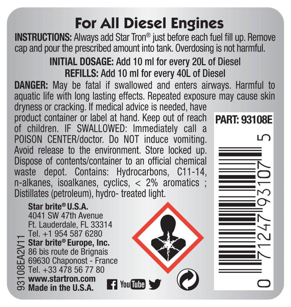 Startron Diesel Additive Instructions 93108E.A2